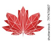 a maple leaf painted in...