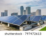 solar and modern city skyline... | Shutterstock . vector #797472613