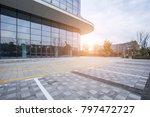modern business office building ... | Shutterstock . vector #797472727