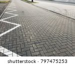 stone pavement in perspective.... | Shutterstock . vector #797475253