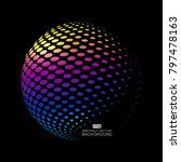three dimensional sphere... | Shutterstock .eps vector #797478163