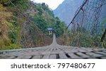 unsafe bridge in himalaya... | Shutterstock . vector #797480677