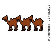 manger camels characters icon | Shutterstock .eps vector #797483623