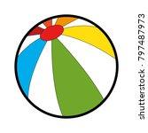 plastic balloon beach icon | Shutterstock .eps vector #797487973