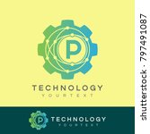 technology initial letter p... | Shutterstock .eps vector #797491087