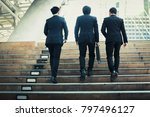 group of businessmen friendly... | Shutterstock . vector #797496127