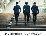 group of businessmen friendly... | Shutterstock . vector #797496127