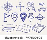 vector sketch style travel icon ... | Shutterstock .eps vector #797500603