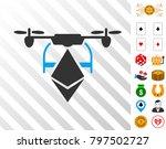 ethereum drone icon with bonus...