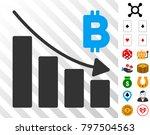 bitcoin recession bar chart... | Shutterstock .eps vector #797504563