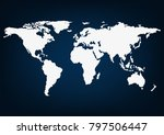 world blank map  isolated on... | Shutterstock .eps vector #797506447