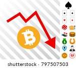bitcoin recession trend... | Shutterstock .eps vector #797507503