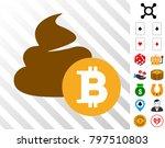 bitcoin shit icon with bonus... | Shutterstock .eps vector #797510803