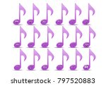 illustration of a music note... | Shutterstock .eps vector #797520883