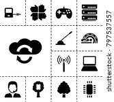 computer icons. set of 13... | Shutterstock .eps vector #797537557