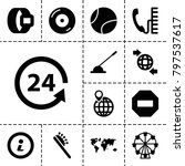 round icons. set of 13 editable ... | Shutterstock .eps vector #797537617