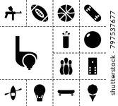 recreation icons. set of 13...   Shutterstock .eps vector #797537677
