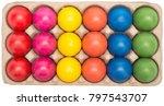 color easter eggs in a full... | Shutterstock . vector #797543707