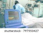 heart activity tracing monitor... | Shutterstock . vector #797553427