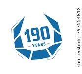 190 years design template.... | Shutterstock .eps vector #797554813