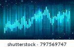 abstract futuristic financial... | Shutterstock .eps vector #797569747
