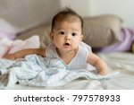 cute asian baby close up | Shutterstock . vector #797578933
