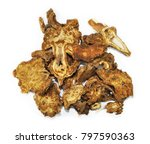Small photo of Rhizoma Ligustici, chinese herbal medicine isolated. Gao Ben