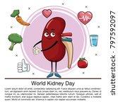 world kidney day infographic...   Shutterstock .eps vector #797592097
