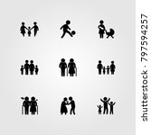 humans icon set vector.... | Shutterstock .eps vector #797594257