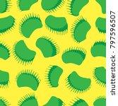 hand drawn venus flytrap... | Shutterstock .eps vector #797596507