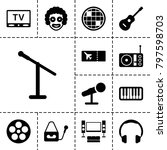 entertainment icons. set of 13... | Shutterstock .eps vector #797598703