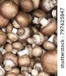 royal mushroom champignons.... | Shutterstock . vector #797625847