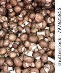royal mushroom champignons.... | Shutterstock . vector #797625853