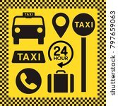 taxi icon set | Shutterstock .eps vector #797659063