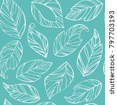 seamless pattern from the... | Shutterstock .eps vector #797703193