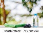 sport equipment  smartphone ...   Shutterstock . vector #797705953