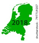 map of netherlands 2018 | Shutterstock .eps vector #797719207