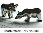 german share with bull and bear ... | Shutterstock . vector #797720683