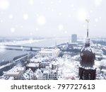 january 20  2018. aerial winter ... | Shutterstock . vector #797727613