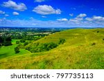 Small photo of Views from the top of Hambledon hill iron age fort North Dorset on a barmy summers day in August.