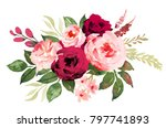 flower bouquet with red and... | Shutterstock . vector #797741893