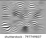 warped stripes on white... | Shutterstock . vector #797749837