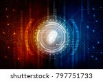 fingerprint scanning technology ... | Shutterstock . vector #797751733
