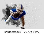 football player with a blue... | Shutterstock . vector #797756497