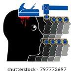 satirical illustration of the...   Shutterstock . vector #797772697