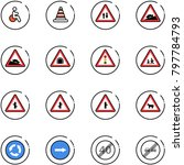 line vector icon set   disabled ... | Shutterstock .eps vector #797784793
