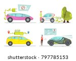 colorful eco friendly electro... | Shutterstock . vector #797785153