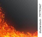 vortex of fiery sparks. | Shutterstock .eps vector #797792467