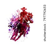 vector watercolor silhouette of ...   Shutterstock .eps vector #797792653