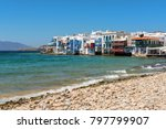 mykonos  greece   may 23  2017  ... | Shutterstock . vector #797799907
